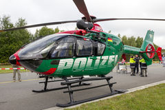 German police helicopter Stock Images