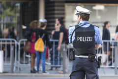 German police officer stock photo