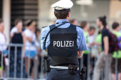 German police officer. A plain german police officer in the streets Royalty Free Stock Photo