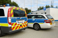 German Police. Staged photo with German police car Royalty Free Stock Photography