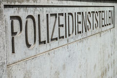 German police station Royalty Free Stock Images
