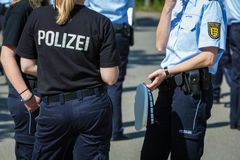German police uniform in detail Royalty Free Stock Photography