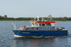 German police vessel Stoltera Stock Photography