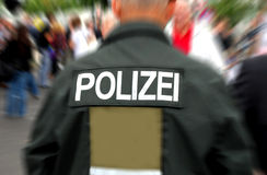 German policeman Stock Photography