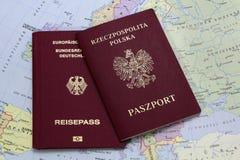 German and polish passport Royalty Free Stock Image