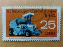 German post stamps. Machine old vintage historic ilustration Stock Photo