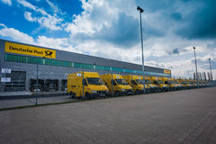 German post vans - strike Royalty Free Stock Photography