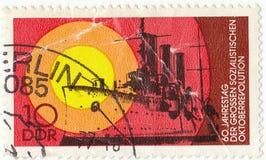 German postage stamp. Old german postage stamp DDR Royalty Free Stock Image