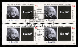 German Postage Stamps with Portrait of Albert Einstein Stock Image