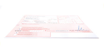 German prescription form Royalty Free Stock Image
