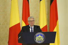 German President Joachim Gauck Stock Photography