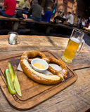German Pretzel and Beer Royalty Free Stock Photo