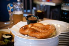 German pretzel royalty free stock images