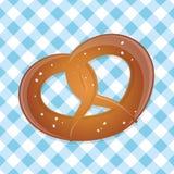 German pretzel. Illustration of a german pretzel Royalty Free Stock Photos