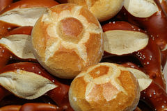 German Pretzel and other german Bread Royalty Free Stock Photo
