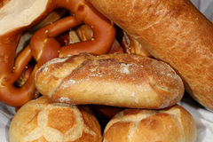 German Pretzel and other german Bread Royalty Free Stock Images