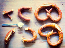 German pretzel Royalty Free Stock Photography