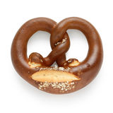 German pretzel on white background Royalty Free Stock Images