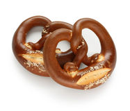 German pretzel on white background Stock Image