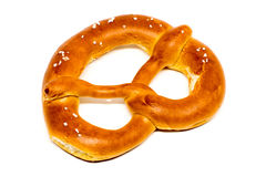 German pretzel & x28;Bretzel& x29; on white Stock Photography
