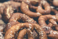 German pretzels, Home made baking background Royalty Free Stock Photos