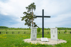 German prisoners of war cemetery in the city Royalty Free Stock Photo