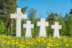 German prisoners of war cemetery in the city Lezhnevo Ivanovo re Stock Image