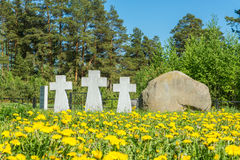 German prisoners of war cemetery in the city Lezhnevo Ivanovo re Stock Photography