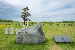 German prisoners of war cemetery in the city Lezhnevo Ivanovo re Royalty Free Stock Photo