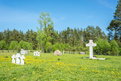 German prisoners of war cemetery in the city Lezhnevo Ivanovo re Royalty Free Stock Images