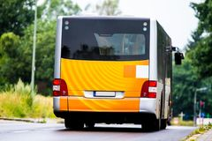 German Public Bus on the road Royalty Free Stock Photos