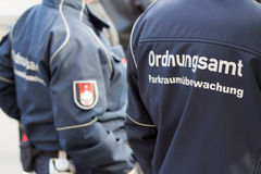 German  public order officer / park (security) service man Royalty Free Stock Photo