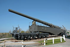 German rail gun of the Second World War  Royalty Free Stock Photography