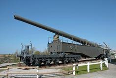 German rail gun of the Second World War. German 280-mm  heavy rail gun of the Second World War in Audinghen, near Cape Gris Nez,  Calais, France Royalty Free Stock Photography