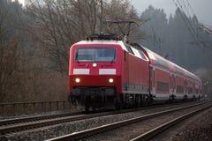 German railway passenger train Stock Photo