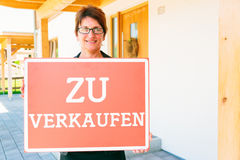 German Realtor Selling A House Royalty Free Stock Photography