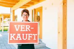 German Realtor Selling A House Stock Photography