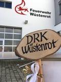 German Red Cross. Deutsches rotes Kreuz Stock Photography