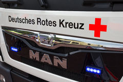 German red cross truck. German red cross on the front of a truck Stock Photos