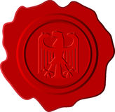 German red wax. Red wax with german eagle Royalty Free Stock Images