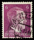GERMAN REICH. Circa 1939 - c.1944: A postage stamp with portraying of Adolf Hitler Stock Images