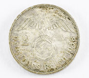 German reich coin. On white background Stock Image