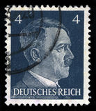 German Reich Postage Stamp from 1941. GERMANY - CIRCA 1941: A vintage German Reich Postage Stamp portraying an image Adolf Hitler, circa 1941 Stock Photo