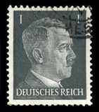 German Reich Postage Stamp from 1941. GERMANY - CIRCA 1941: A vintage German Reich Postage Stamp portraying an image Adolf Hitler, circa 1941 Royalty Free Stock Photography