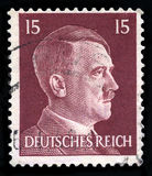 German Reich Postage Stamp from 1942. GERMANY - CIRCA 1942: A vintage German Reich Postage Stamp portraying an image Adolf Hitler, circa 1942 Stock Image