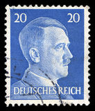German Reich Postage Stamp from 1945. GERMANY - CIRCA 1945: A vintage German Reich Postage Stamp portraying an image Adolf Hitler, circa 1945 Stock Photos