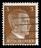 German Reich Postage Stamp from 1941. GERMANY - CIRCA 1941: A vintage German Reich Postage Stamp portraying an image Adolf Hitler, circa 1941 Royalty Free Stock Images