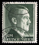 German Reich Postage Stamp from 1945. GERMANY - CIRCA 1945: A vintage German Reich Postage Stamp portraying an image Adolf Hitler, circa 1945 Royalty Free Stock Photo