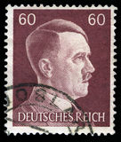 German Reich Postage Stamp from 1945. GERMANY - CIRCA 1945: A vintage German Reich Postage Stamp portraying an image Adolf Hitler, circa 1945 Stock Image