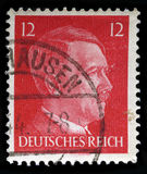 German Reich Postage Stamp from 1942. GERMANY - CIRCA 1942: A vintage German Reich Postage Stamp portraying an image Adolf Hitler, circa 1942 Royalty Free Stock Images